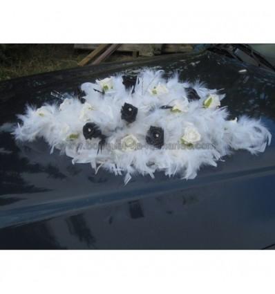 bouquet de voiture plums noir et blanc