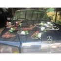 Décoration de voiture de mariage thème Roses et Papillons chocolat!