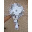 Bouquet de Mariée Tombant thème Papillon blanc et argent