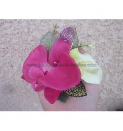 bracelet orchidée