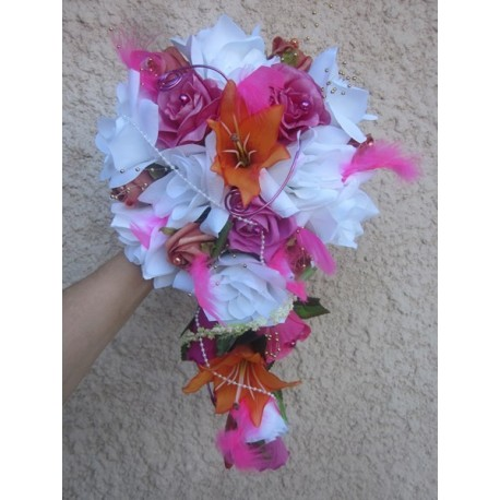 Bouquet fushia orange