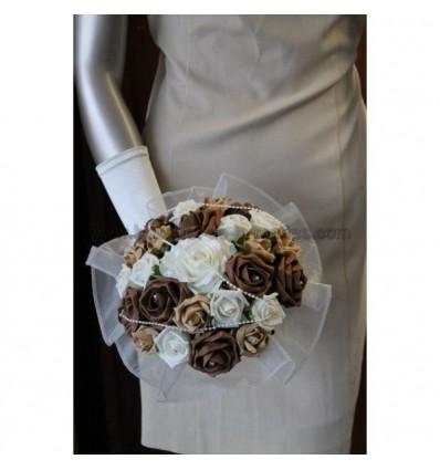 Bouquet de mariée chocolat et caramel