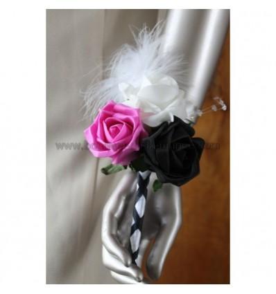 bouquet baguette fuschia et noir
