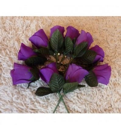 10 Boutonnières de mariage couleur prune