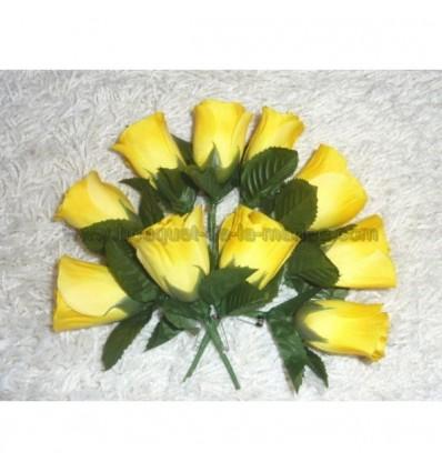 10 Boutonnières de mariage couleur jaune