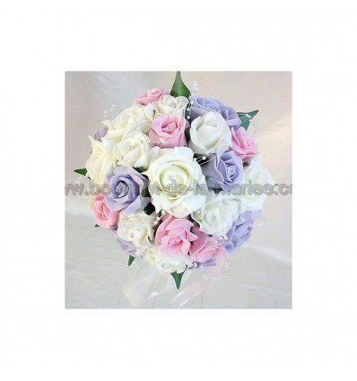 bouquet mariée parme rose
