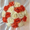 Bouquet mariée orange avec diamantes fantaisies