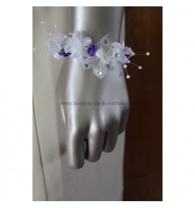 bracelet de mariage roses, perles et papillon!
