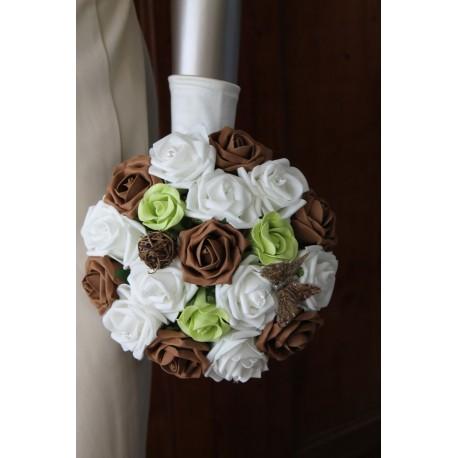 Bouquet mariée anis chocolat papillon