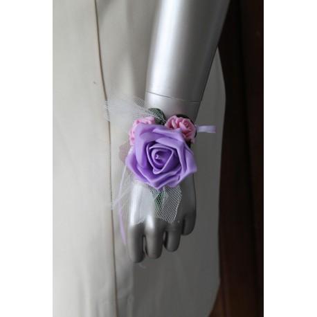 bracelet mariage parme rose