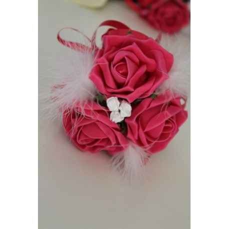 Bouquet mariage enfant fushia et blanc