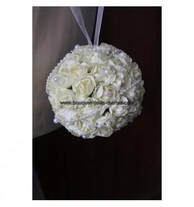 Bouquet mariage enfant boule des roses