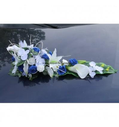 splendide bouquet de voiture de mariage avec roses bleu et blanches bouquet de la mariee. Black Bedroom Furniture Sets. Home Design Ideas