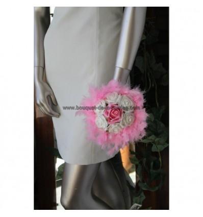 Bouquet demoiselle d'honneur mariage couleur rose tendre