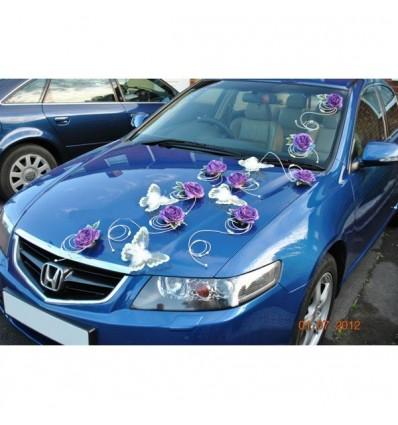 d coration voiture de mariage avec papillon commande levert bouquet de la mariee. Black Bedroom Furniture Sets. Home Design Ideas