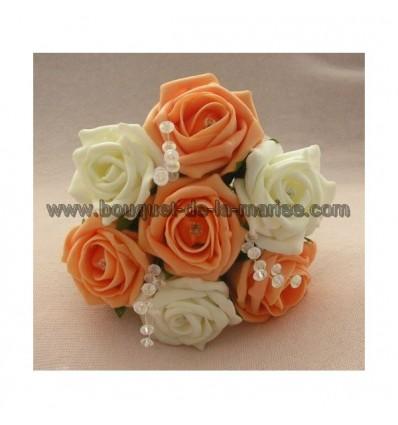 Bouquet demoiselle d'honneur avec roses diamantées