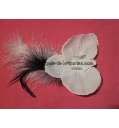 Boutonnière Orchidée Plumes
