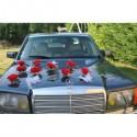 Belle decoration de voiture pour mariage avec des papillons et roses