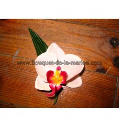 Boutonnière Orchidée Noir ou Blanc