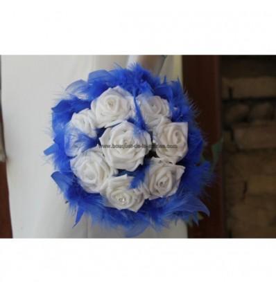 Magnifique Bouquet demoiselle d'honneur bleu roi