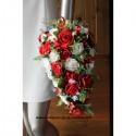 Dernier disponible! Bouquet des Roses Mariage rouges et blanches