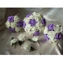 Lot de bouquets de mariée et demoiselle d'honneur parme!