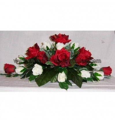 Bouquet de mariée, bouquet demoiselle d'honneur et composition table mariées