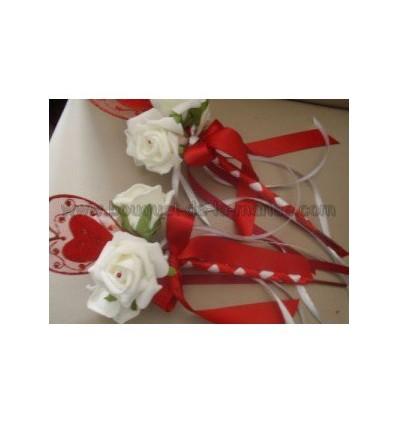 Paniers en bois + roses