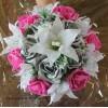 Bouquet lys fushia argent