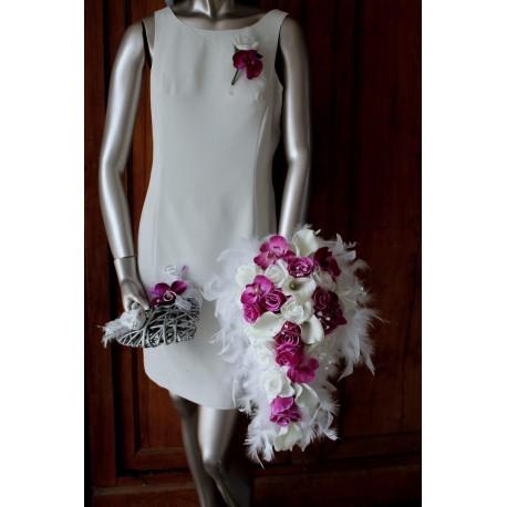 Bouquet de Mariée mariage couleur Magenta