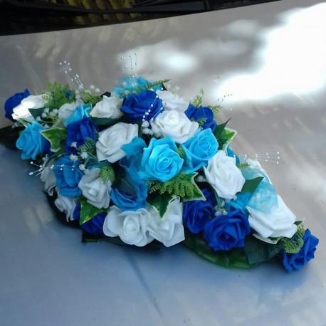 Composition de table pour mariage thème bleu marine