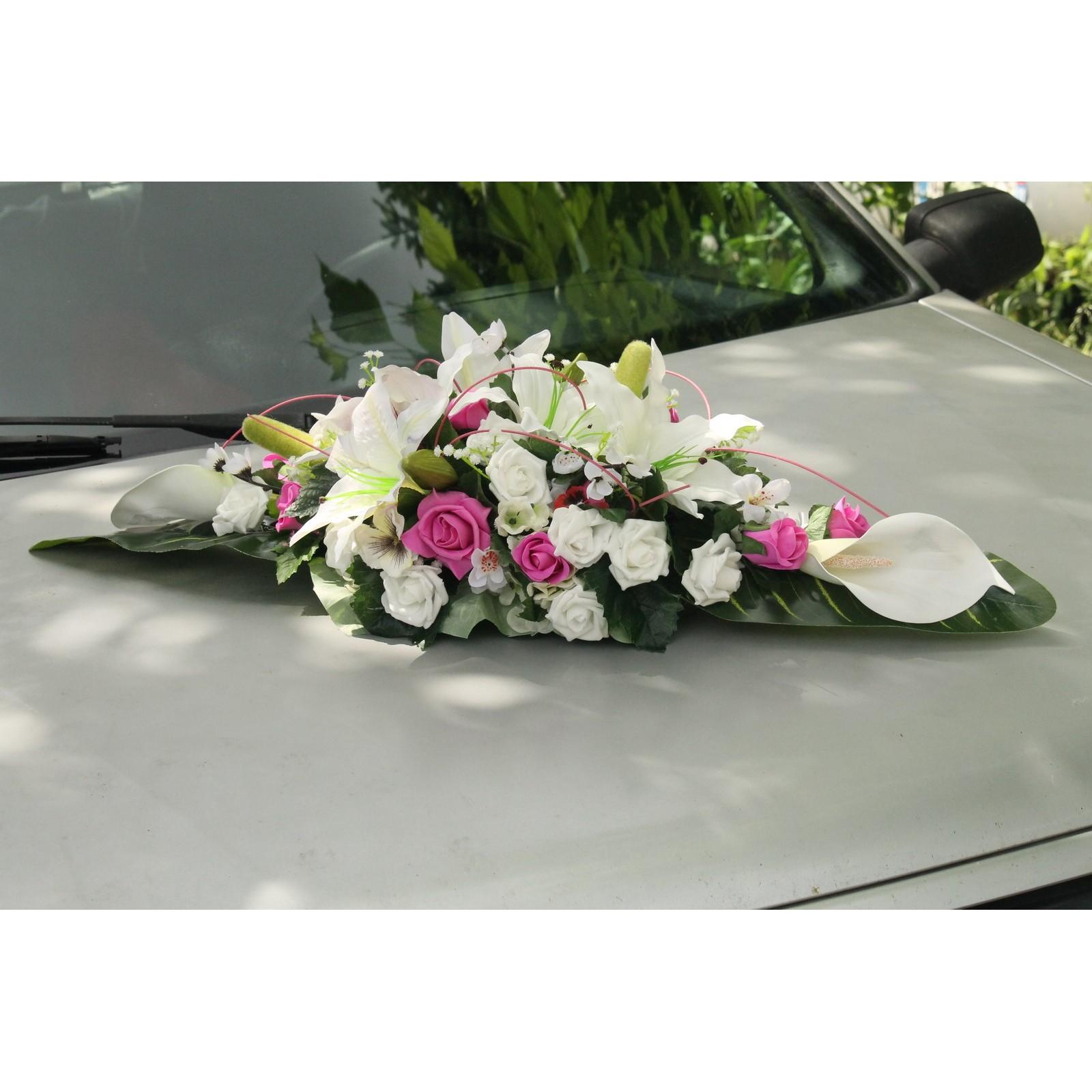 promo du jour gerbe de voiture de mariage couleur blanc fuchsia bouquet de la mariee. Black Bedroom Furniture Sets. Home Design Ideas