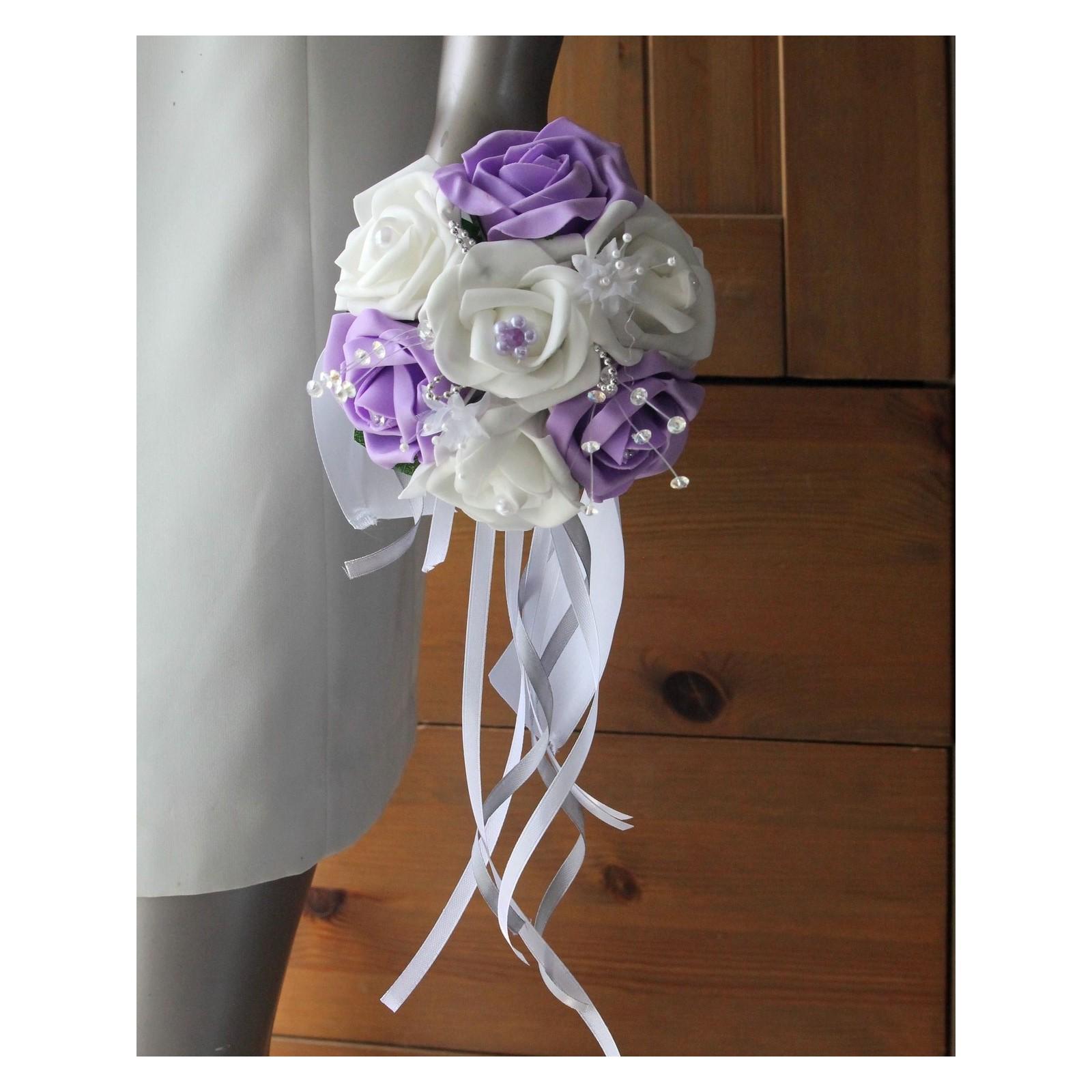 bouquet de demoiselle d'honneur mariage parme strass et perles