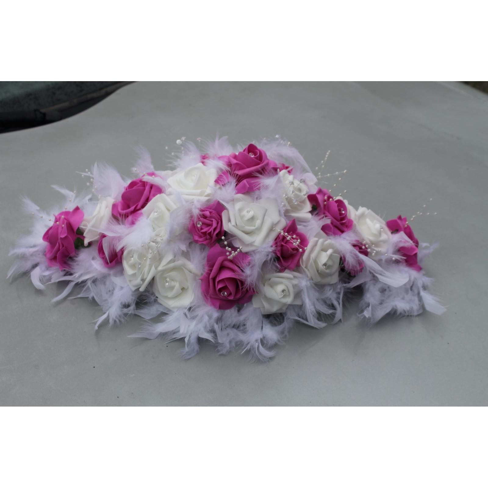 Decoration De Table Pour Mariage Theme Fuchsia Et Blanc Bouquet
