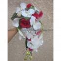 Bouquet de Mariée Tombant sur mesure avec orchidées et arums