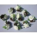 Décoration de table de mariage - choix des couleurs des roses