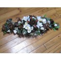 Décoration de voiture de mariage thème chocolat avec des roses