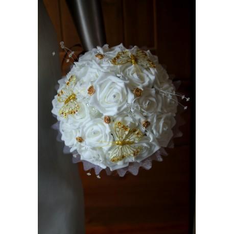 bouquet mariage ivoire et or