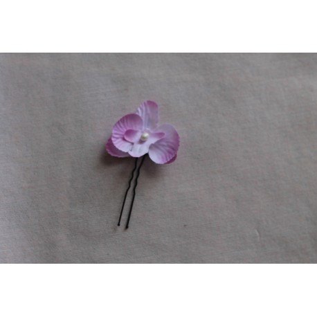 Epingle de cheveux avec orchidée parme pour mariage