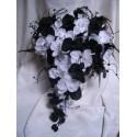 Promo: Bouquet de Mariage Baroque avec orchidées noires,blanches