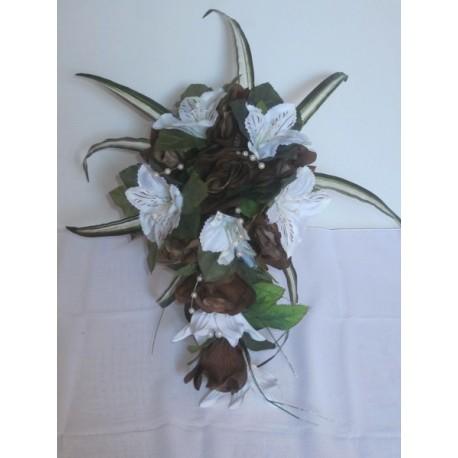 Bouquet de la mariée tombant chocolat