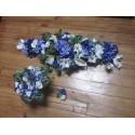 LOT Bouquet de mariage: décoration de table ou voiture bleu / ivoire