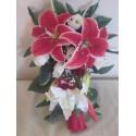 Bouquet de Mariée Tombant avec de gros Lys et roses