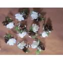 Décorations des tables de mariage - choix des couleurs des roses