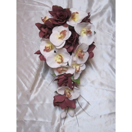 Bouquet mariée orchidée chocolat
