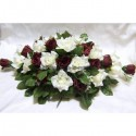 Décoration pour voiture de mariée avec des Roses, Perles et feuilles