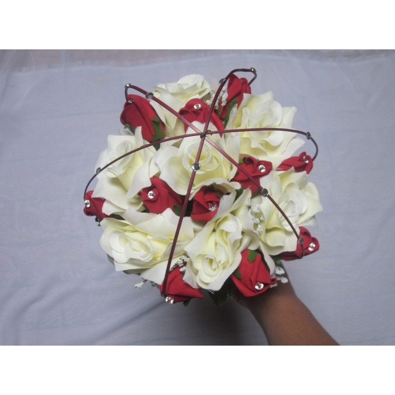Bouquet de mari e tiges longues avec des roses strass et tiges bouquet de la mariee - Strass pour bouquet de mariee ...