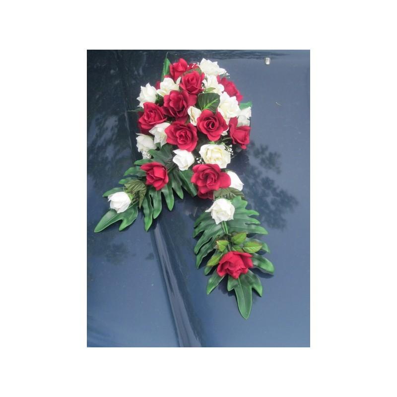 D coration de voiture pour mariage th me rouge et bordeaux bouquet de la mariee - Soldes decoration mariage ...