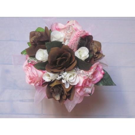 Bouquet mariée rose chocolat