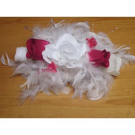 D coration des tables de mariage th me blanc et fuchsia bouquet de la mariee - Soldes decoration mariage ...